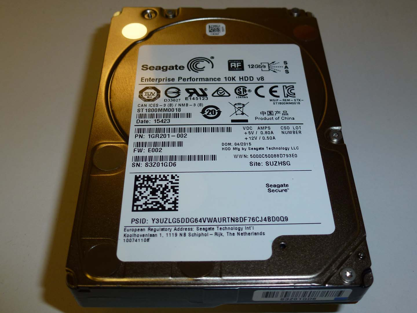 SEAGATE ST31800MM0018
